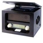 Roadstar HRA-1520MP - Radio AM/FM en bois avec lecteur CD/MP3