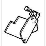 Makita 651028-7 - Interrupteur HPAH2-3S sans bloquage pour meuleuse 9041 et 9401