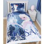 Character World Elsa La Reine Des Neiges - Housse de couette et taie (135 x 200 cm)