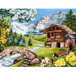 Oz international Peinture au numéro : Alpages fleuris