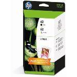 HP J3M80AE - Combo pack n°62 noir et couleurs