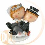 Figurine couple de mariés (10.5 cm)