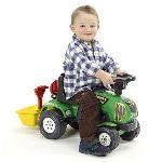 Falk / falquet Porteur Tracteur Baby Power Master avec remorque et accessoires (sans pédales)