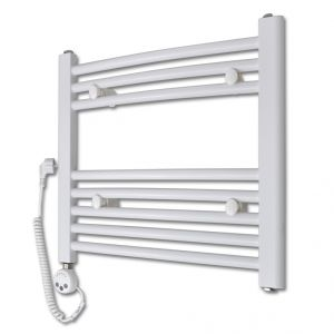 VidaXL 140879 - Radiateur sèche-serviettes incurvé avec thermostat 480x480 mm