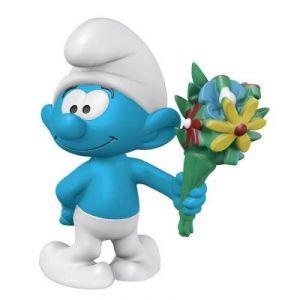 Schleich Figurine Schtroumpf avec bouquet de fleurs