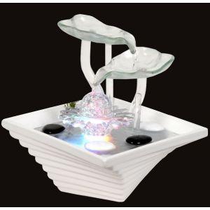 Sunshine Nénuphar - Fontaine d'intérieur en verre et céramique