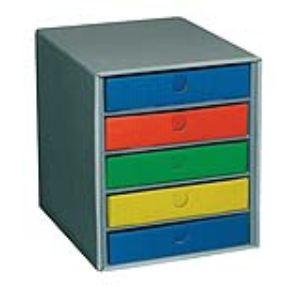 Fast 5062ASX1 - Module de classement 5 tiroirs différents en carton