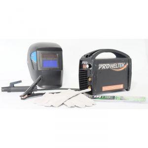 Proweltek Pro+ 80A - Poste à souder Inverter + kit de soudure (masque LCD, paquet d'électrodes et gants)