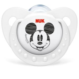 Nuk 710114 - 2 sucettes physiologiques Mickey en silicone T2