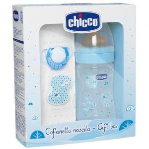 Chicco Coffret cadeau avec biberon Bien-être 150 ml et tétine en caoutchouc