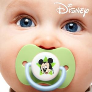 2 tétines Mickey en silicone