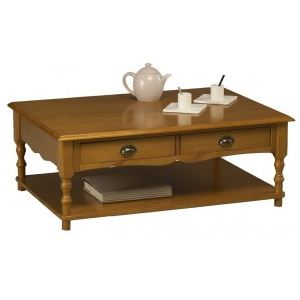 Windsor Table basse rectangulaire Style Anglais en pin