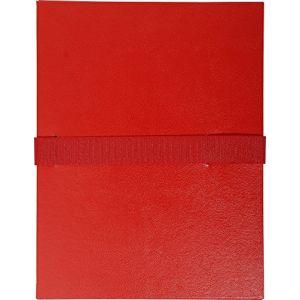 Exacompta Chemise à sangle velcro avec rabat Rouge