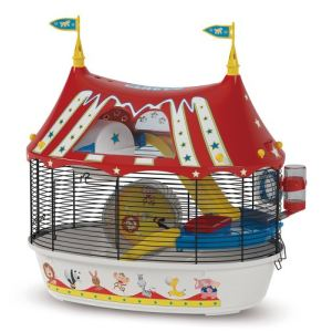 Ferplast Cage Circus Fun pour hamster et souris (49,5 x 42,5 x 34 cm)