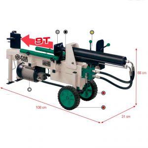 Far Tools FB 9T - Fendeur de bûches horizontal 9T 52cm 2100W