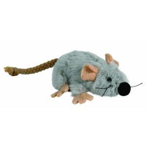 Trixie Souris en peluche avec pour chat (7 cm)