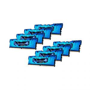 G.Skill F4-2666C16Q2-64GRB - Barrette mémoire RipJaws 4 Series Bleu 64 Go (8x 8 Go) DDR4 2666 MHz CL16