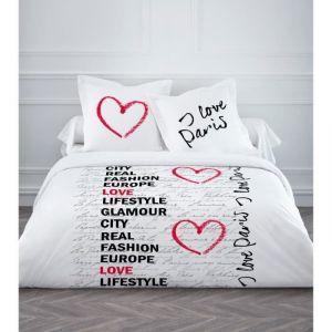 Today I Love Paris - Housse de couette et 2 taies (220 x 240 cm)