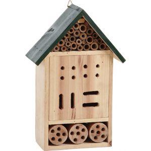 Aubry Gaspard Hôtel à insectes en bois 19 x 9,5 x 30 cm