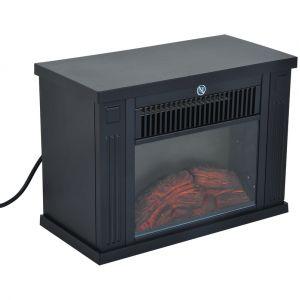 Cheminée électrique poêle style contemporain thermostat 600-1200 W