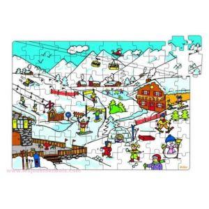 Vilac 2586 - Puzzle la montagne en valise (96 pièces)