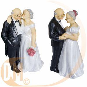 Figurine couple de vieux mariés