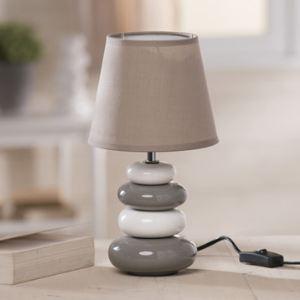Lampe galets ceramique comparer 57 offres - Lampe trepied gifi ...