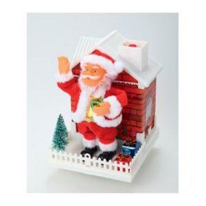 Automate Pere Noël avec maison (25 cm)