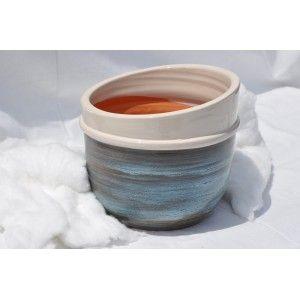 Clair de Terre Elipse - Poterie en terre cuite émaillée forme fantaisie Ø21 x 18 cm