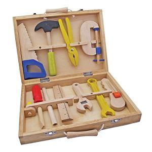 New Classic Toys Boîte à outils en bois pour enfant (10 pièces)