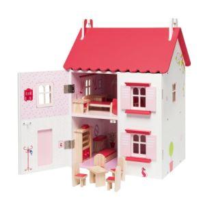 Oxybul Maison de poupée meublée en bois
