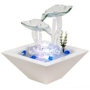Zen arôme Fontaine d'intérieur Nénuphar en céramique