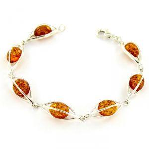 Rêve de diamants BRBA01003 - Bracelet en argent 925/1000 et ambre