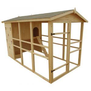Habrita Poulailler XXXL toit bitumé pour 8 à 12 poules