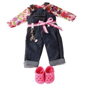 Gotz Salopette en jean avec sabots pour poupée (45-50 cm)