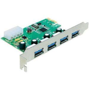 Delock 89363 - Carte PCI Express 4 ports USB 3.0