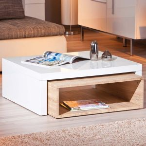 Table basse design Californie avec niche de rangement modulable