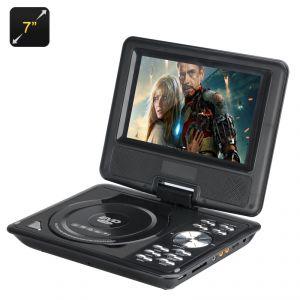 """High-Tech Place Lecteur DVD Portable 7"""" (eBook, FM Radio, Game Controller, TV Antenna)"""