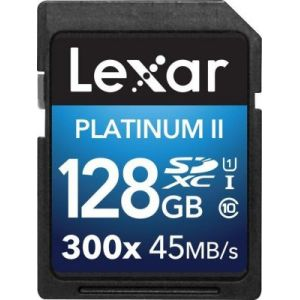 Lexar LSD128BBEU300 - Carte mémoire Premium SDXC 128 Go 300X Class 10