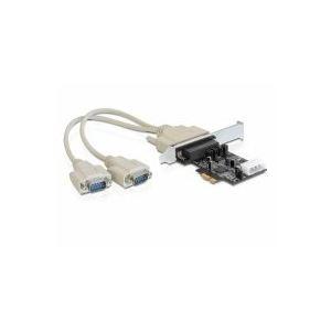 Delock 89305 - Carte contrôleur PCIe 2 ports série avec gestion d'alimentation