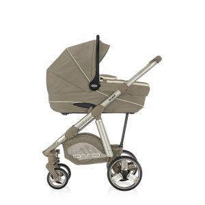 Brevi Ovo Premium - Combiné Trio avec poussette, nacelle, siège auto Smart Silverline et sac à langer