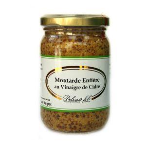 Delouis Moutarde entière au vinaigre de cidre 200 g