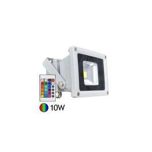 Vision-El Projecteur LED 10W RGB + télécommande IR