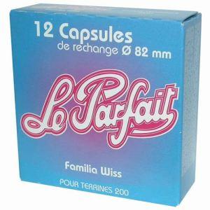 Le Parfait 12 capsules Familia Wiss pour terrine (8,2 cm)