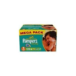 Pampers Baby Dry taille 3 Midi (4-9 kg) - 126 couches