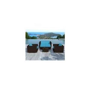 salon de jardin resine bleu comparer 33 offres. Black Bedroom Furniture Sets. Home Design Ideas