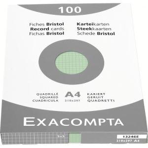 Exacompta Etui de 100 fiches bristol 205 g quadrillé 5x5 non prforées (A4)