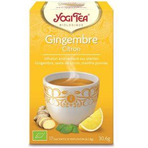 Yogi Tea Thé Infusion Gingembre Citron - Boîte de 17 sachets