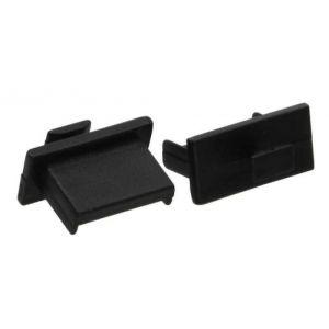 Inline 59948A - Protection Logement USB A femelle noir 50 pièces