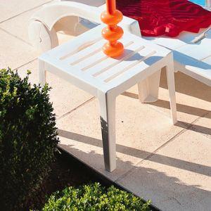 Grosfillex Miami - Table basse de jardin en résine 40 x 40 cm